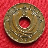 East Africa 5 Cents 1957 KN  Africa Oriental Afrique Afrika Wºº - Coins