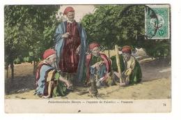 PALESTINE  /  PALÄSTINENSISCHE  BAUERN  /  PAYSANTS  ( Paysans ) /  PEASANTS  /  BEAU TIMBRE ( Cpa Précurseur ) - Palestine