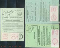 12233 PROMO Distributeur 41 3 Différents Ordre De Réexpédition Définitif - Vignettes D'affranchissement