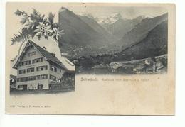 SCHWÄNDI Aussicht Vom Gasthaus Z. Adler P. Stoeri Gel. 1904 V. Netstal N. Schwanden - GL Glaris