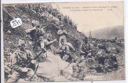 MILITARIA- INFANTERIE SERBE DEFENDANT LE PASSAGE DE LA DRIMA CONTRE LES AUTRICHIENS - Guerre 1914-18