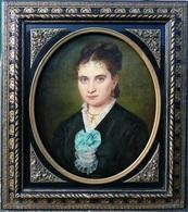 H. Chable - Grand Portrait De Dame De Qualité - Napoléon III - Oelbilder