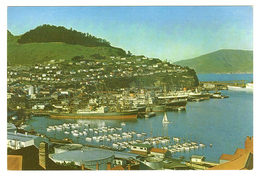 New Zealand (NZ), South Island, Lyttleton (Ōhinehou), Harbour, Quay, Marina, Cargo Ships, Docks, Postcard - New Zealand