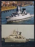 """2 Fotos Fregatte """"Mecklenburg-Vorpommern"""" Und Fregatte """"Hamburg"""" - Steamers"""