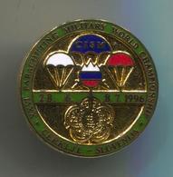 XXVI. Parachutting Military World Championship 1996. CERKLJE Slovenia, Pin, Badge, Abzeichen, Enamel - Parachutting