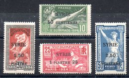 SYRIE - YT N° 122 à 125 - Neufs ** - MNH - Cote: 218,00 € - Syrie (1919-1945)