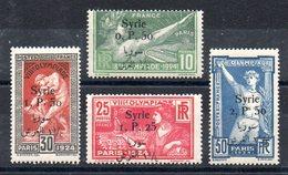 SYRIE - YT N° 149 à 152 - Neufs ** - MNH - Cote: 218,00 € - Syrie (1919-1945)