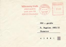 N0284 - Czechoslovakia (1990) 430 01 Chomutov 1: Rolling Mills, State Enterprise (franking Machine); Tariff: 1,00 Kcs - Factories & Industries