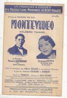 Partition Musicale Ancienne, MONTEVIDEO , Célébre Tango ,6 Pages,  Frais Fr : 1.55e - Scores & Partitions