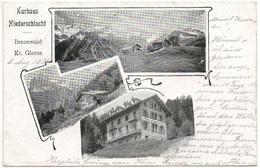 BRAUNWALD Kurhaus Niederschlacht Gel. 1901 V. Rüti N. Lancaster - GL Glaris