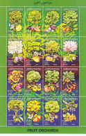 Libya Fruits Orchards Sheetlet Of 16 Stamps MNH Complset -Flowers+Fruits- Nice Topical- Reduced [2.,. SKRILL PAY ONLY - Libya