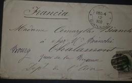 O) 1884 GUATEMALA, QUETZAL 10c Black Gray And Green, TO FRANCE, XF - Guatemala