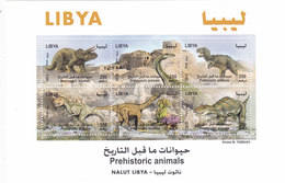 Libya 2013 Prehistoric Animals Sheetlet Of 6 Stamps High Values Cpl.set MNH- Reduced Price - SKRILL PAY ONLY - Libya