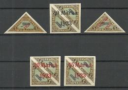 Estland Estonia 1923 Michel 41 - 45 * - Estland