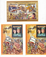 Libya 2001,Summit African Leaders, Sheetlet Of 6 V.MNH+ 2 S.sheets Silver +Gold, High Values - Red. Price- SKRILL PAY - Libya