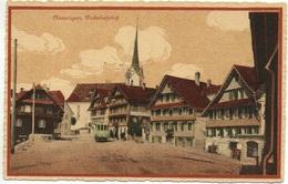 MENZINGEN Bahnhofplatz Strassenbahn Tram Guggenheim No. 11622 - ZG Zoug