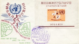 Korea 1961: World Health Day, FDC - Corea Del Sud
