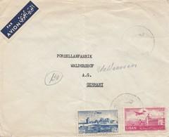 Libanon 1952: Beirut, Par Avion To Waldershof, Porzellanfabrik - Liban