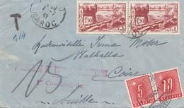 Maroc 1942: Letter To Switzerland, Tax - Maroc (1956-...)