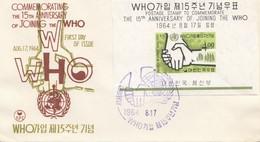 Korea 1964: WHO 15. Anniversary FDC - Corea Del Sud