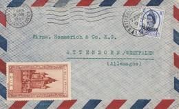Maroc 1955: Air Mail British Poste Tanger To Attendorn - Maroc (1956-...)