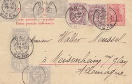 Frankreich: 1912: Antwortganzsache Germania Von Dole Nach Meisenheim - Non Classés