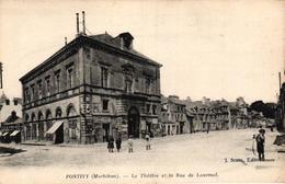 PONTIVY -56- LE THEATRE ET LA RUE DE LOURMEL - Pontivy