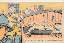 MILITARIA - Humoristique - 2 CPA : Parties De PUZZLE -  Scènes De Caserne ( Illustrateur JARRY ) - Humoristiques