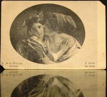 Russian Empire Postcard F. A. Muller A Kiss Before 1917 Sankt-Peterburg - Couples