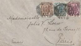 LETTRE - AUTRICHE - Wien Le 13.05.1898 Pour Paris (affranchissement Tricolore) - 1850-1918 Empire