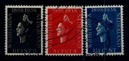 Nederland 1938: Wilhelmina - 40 Jaar De Koningin. Gebruikt (o) - Periode 1891-1948 (Wilhelmina)