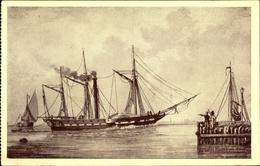 Artiste Cp Ned. Hist. Scheepvaart Museum Amsterdam, Zr. Ms. Curacao, Stoomschip, 1827 - Bateaux