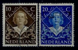 Nederland 1948: Inhuldigingszegels Koningin Juliana. Gebruikt (o) - Periode 1891-1948 (Wilhelmina)