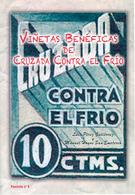 Catálogo De Las Viñetas Benéficas De Cruzada Contra El Frío. Por Luís Pérez Y Manuel Hoyos. - Viñetas De La Guerra Civil