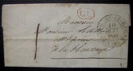 Beaumont Le Roger (Eure) 1841 Correspondance Locale Pour La Houssaye - Postmark Collection (Covers)