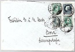 Mixed Franking Leopold Malmedy > Bonn (427) - Belgique