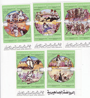 Libya National Games 20 Stamps Issued In 5 Bloc's Of 4 -Sports- MNH Com,pl.set - Reduced Price - Skrill ONLY - Libië