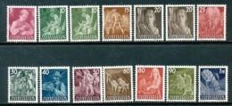 LIECHTENSTEIN Mi. Nr. 289-300 Freimarken: Landarbeit - MNH - Liechtenstein