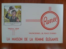 Buvard  La Maison De La Femme élégante RENEE A VALENCIENNES ( CHARLOT) - Buvards, Protège-cahiers Illustrés