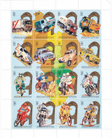 Libya Rally Auto-Moto Sheetlet Of 16 Stamps Compl.MNH - Scarce - Reduced Price- SKRILL PAY  ONLY - Libya