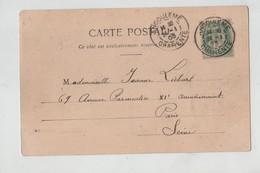 Généalogie Carte Précurseur 1903 Liebart Avenue Parmentier Paris Cha^teau De La Rochebeaucourt - Généalogie