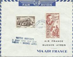 A.O.F. SOBRE  DAKAR-BUENOS AIRES - A.O.F. (1934-1959)