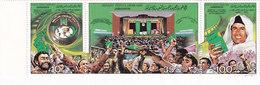 Libya,Green Book, Strip O F 3 Stamsops Complete Set MNH - Reduced Price  - SKRILL PAY. ONLY - Libya