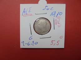 Albert 1er. 50 Centimes 1910 VL JOLIE QUALITE - 1909-1934: Albert I