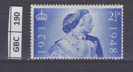 GRAN BRETAGNA   1948Anniversario Matrimonio Re Giorgio E Regina Elisabetta 2,5 Nuovo Con Traccia Linguella - 1902-1951 (Re)