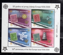 MONTENEGRO 2006 EUROPA CEPT 50 YEARS BLOCK SHEET BLOCCO FOGLIETTO BLOC FEUILLET MNH - Montenegro
