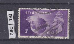 GRAN BRETAGNA   1948Olimpiadi 3 Usato - Usati