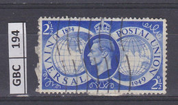 GRAN BRETAGNA   1949Unione Postale 2,5 Usato - Usati