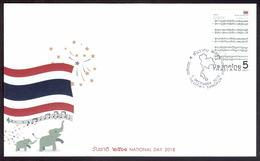 Thailand 2018, National Day, FDC - Thailand