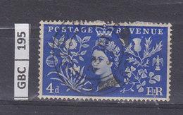 GRAN BRETAGNA   1953Incoronazione Elisabetta IIn4 D Usato - Usati